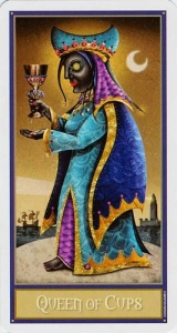 48-deviant-moon-tarot-kubki-dama-koroleva