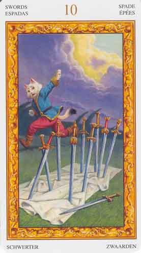 Resultado de imagem para 10 espadas tarot