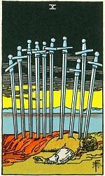 Значение карт Таро Младшие Арканы десятка мечей