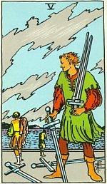 Значение карт Таро Младшие Арканы пятерка мечей