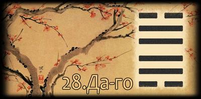 Толкование 28 гексаграммы Книги Перемен
