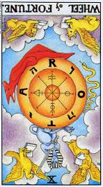 Значение карт Таро при гадании Карты Таро толкование перевернутое Колесо Фортуны или Колесо Судьбы