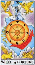 Значение карт Таро при гадании Карты Таро толкование Колесо Фортуны или Колесо Судьбы