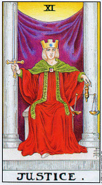 Значение карт Таро при гадании Карты Таро толкование Справедливость или Правосудие