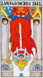 Значение карт Таро при гадании Карты Таро толкование перевернутый Иерофант или Верховный Жрец Папа
