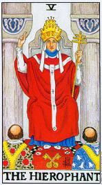 Значение карт Таро при гадании Карты Таро толкование Иерофант или Верховный Жрец Папа