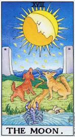 Значение карт Таро при гадании Карты Таро толкование Луна
