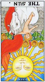 Значение карт Таро при гадании Карты Таро толкование перевернутая карта Солнце