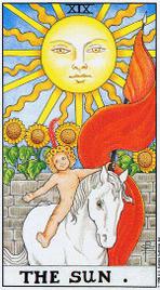 Значение карт Таро при гадании Карты Таро толкование Солнце
