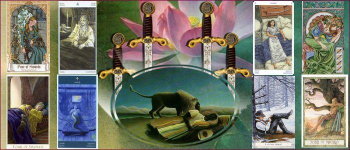 Толкование карт таро четверка мечей значение