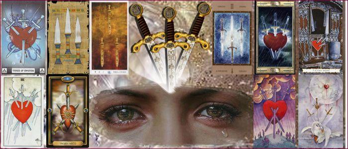Толкование карт таро тройка мечей значение