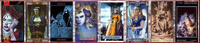 Толкование карт Таро Мечи | Королева мечей Таро значение