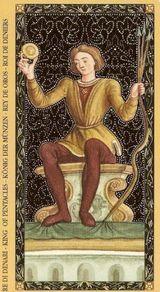 Золотое Флорентийское Таро Король пентаклей