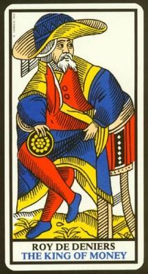 Марсельское Таро Король пентаклей