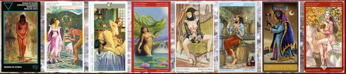 Толкование карт Таро кубки (чаши) | Королева (Дама) кубков