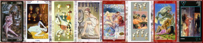 Толкование карт Таро кубки (чаши) | Семерка кубков (чаш)