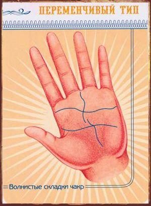 Чакры и линии на руке Чакры волнистые