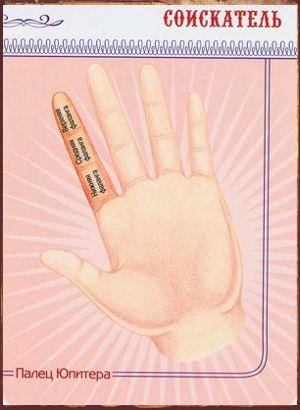 Пальцы на руке в хиромантии Палец Юпитера