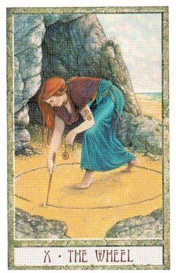 Гадание на Таро на Новый год Карта нового года Магия друидов Колесо Судьбы