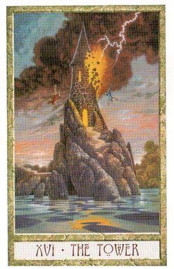 Гадание на Таро на Новый год Карта нового года Магия друидов Башня