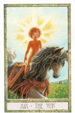 Гадание на Таро на Новый год Карта нового года Магия друидов Солнце