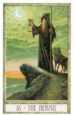 Гадание на Таро на Новый год Карта нового года Магия друидов Отшельник