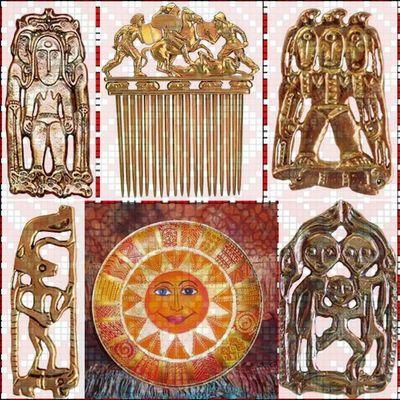Славянские обереги из серебра и золота купить в Москве, славянские золотые обереги звериного стиля
