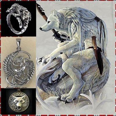 Славянские обереги из серебра и золота купить в Москве, славянские серебряные обереги волк