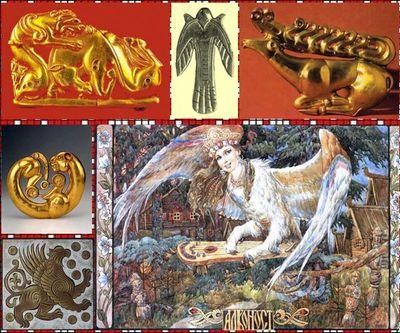 Славянские обереги из серебра и золота купить в Москве, славянские обереги звериного стиля золотой олень и пантера