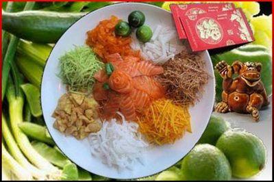 Новогодние гадания Год Огненной Обезьяны 2016 Китайский салат Ю-Шен Гадания на Новый год