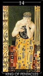 14-golden-tarot-klimt-pentakli-korol