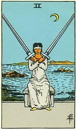 Значение карт Таро Младшие Арканы двойка мечей