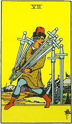 Значение карт Таро Младшие Арканы семерка мечей