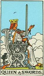 Значение карт Таро Младшие Арканы дама мечей
