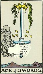 Значение карт Таро Младшие Арканы Туз мечей