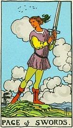 Значение карт Таро Младшие Арканы паж мечей