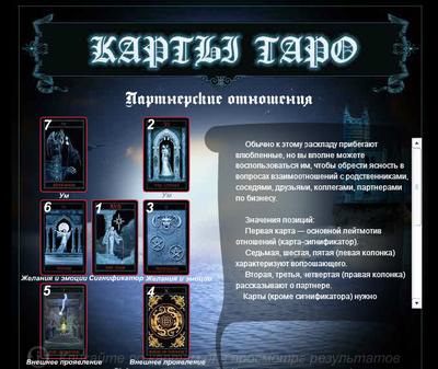 Гадание на картах Таро онлайн
