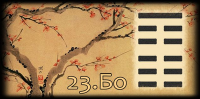 Толкование 23 гексаграммы Книги Перемен
