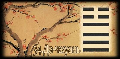 Толкование 34 гексаграммы Книги Перемен