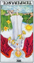 Значение карт Таро при гадании Карты Таро толкование перевернутая Умеренность или Воздержанность