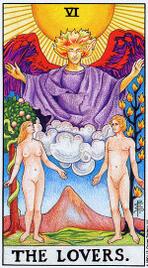 Значение карт Таро при гадании Карты Таро толкование Влюбленные или Возлюбленный или Любовники
