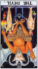Значение карт Таро при гадании Карты Таро толкование перевернутый Дьявол