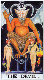 Значение карт Таро при гадании Карты Таро толкование Дьявол