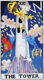 Значение карт Таро при гадании Карты Таро толкование Башня