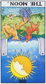 Значение карт Таро при гадании Карты Таро толкование перевернутая Луна