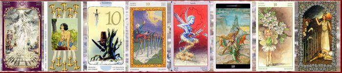 Толкование карт Таро Мечи | Десятка мечей Таро значение