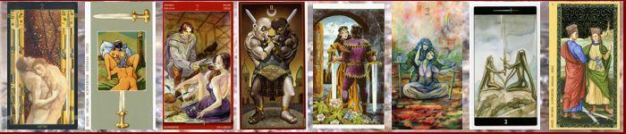 Толкование карт таро перевернутая двойка мечей значение