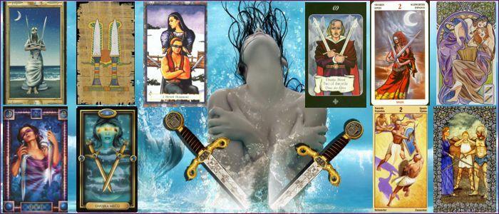 Толкование карт таро двойка мечей значение
