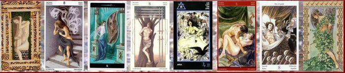 Толкование карт Таро Мечи | Восьмерка мечей Таро значение