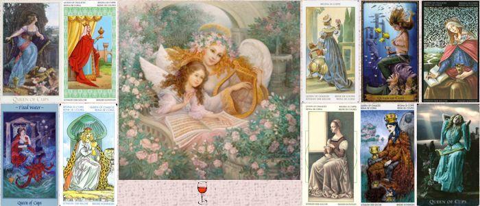 Толкование карт Таро кубки (чаши) | Королева (Дама) кубков (чаш)